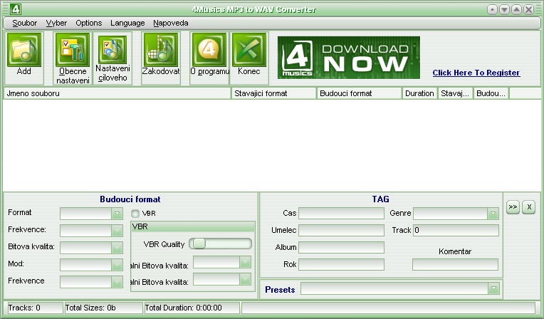 4Musics MP3 to WAV Converter 2.0