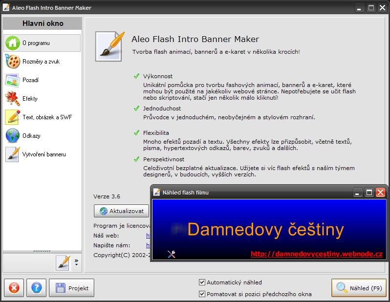 Aleo Flash Intro Banner Maker 3.6