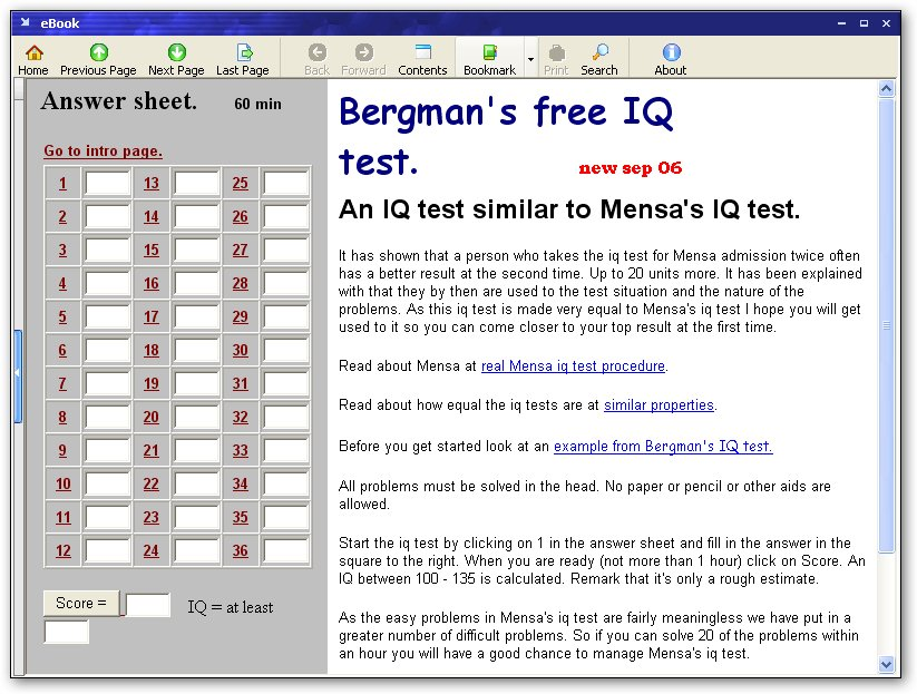 Bergmans IQ test  1