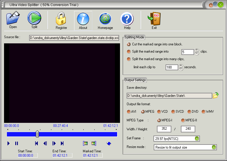 Ultra Video Splitter  6.2.0409