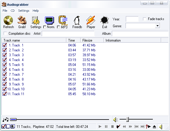 Audiograbber 1.83 build 1