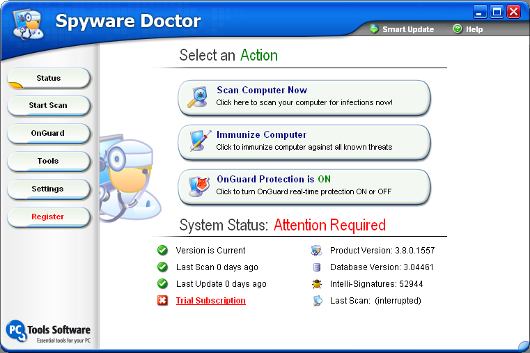 Spyware Doctor  8.0.0.655