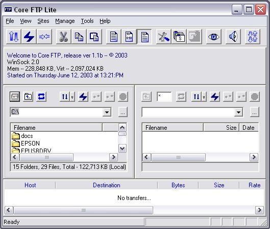 Core FTP Lite 2.6.1679