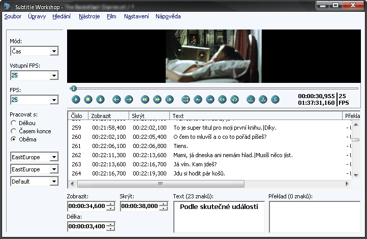 Subtitle Workshop 4.00 beta 4