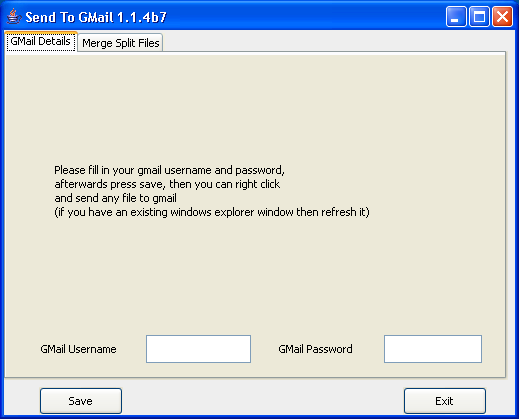 Send To GMail  2.1 build 152