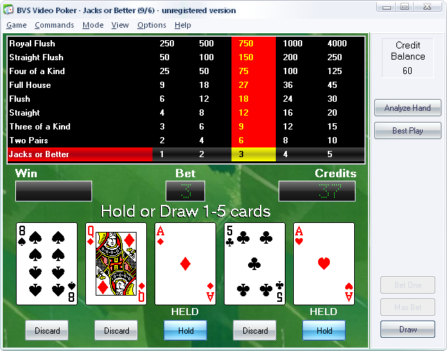 BVS Video Poker 1.5
