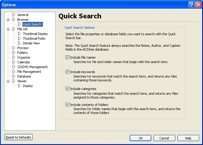 acdsee search by keywords