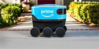 Amazon tests a fleet of robots to deliver packages to the door