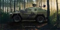 Zbraň na střeše a dron v zavazadlovém prostoru: Takto by mohl vypadat armádní Cybertruck