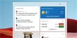 Widget se zprávami zavítá na hlavní panel Windows 10 i v češtině. Takhle vypadá