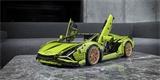 Složte si z Lega limetkové Lamborghini Sián v měřítku 1:8. Stavebnice má téměř čtyři tisíce dílků
