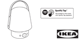 To není houba s držadlem, ale bezdrátový reproduktor Ikea s lampičkou a funkcí Spotify Tap