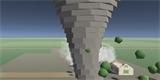 Vyzkoušejte si simulátor tornáda. Běží přímo ve webovém prohlížeči