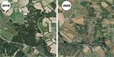 Mapy.cz mají nové letecké snímky střední části Česka. Zmizel na nich les, který zničilo sucho a kůrovec