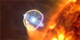 Síť radioteleskopů pozorovala explozi na povrchu mrtvé hvězdy