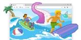 Microsoft Edge má skrytou hru jako Chrome. Můžete v něm surfovat na prkně