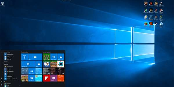 Nabídka Start ve Windows 10