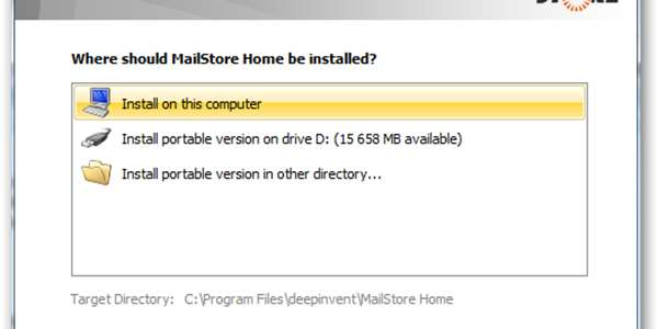 mailstore home portable update