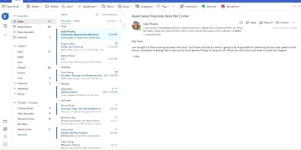Co Přinese Office 2019 Outlook Projde Výraznou Odtučňovací Kůrou