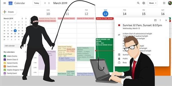 ec981cf622 Pozvánky služby Kalendář Google jsou zneužívány k phishingu. Jak se bránit