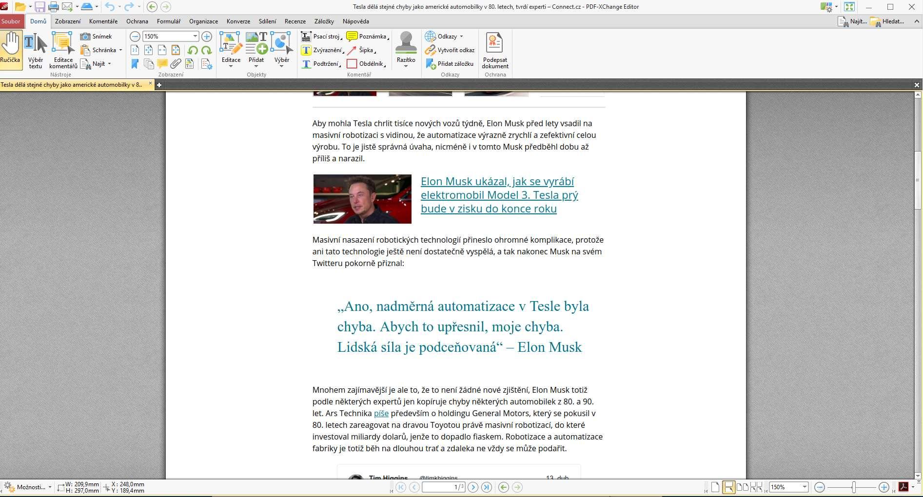 PDF-XChange Editor umožňuje editovat text v rámci PDF a libovolně s ním  pracovat. 70efba12db