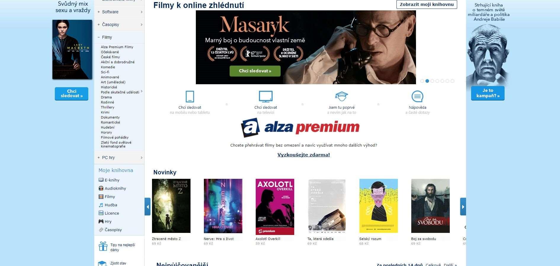 Alza už prodává i online filmy 1d71ae87c3