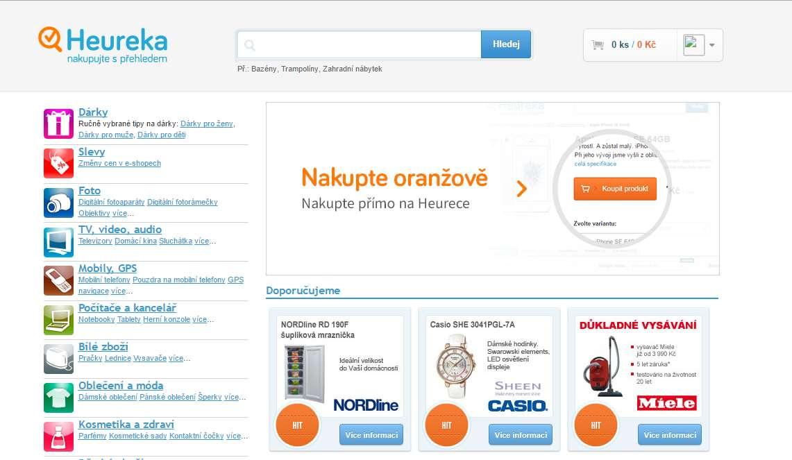 64e6a2c7a52 Web cenového srovnávače Heureka.cz