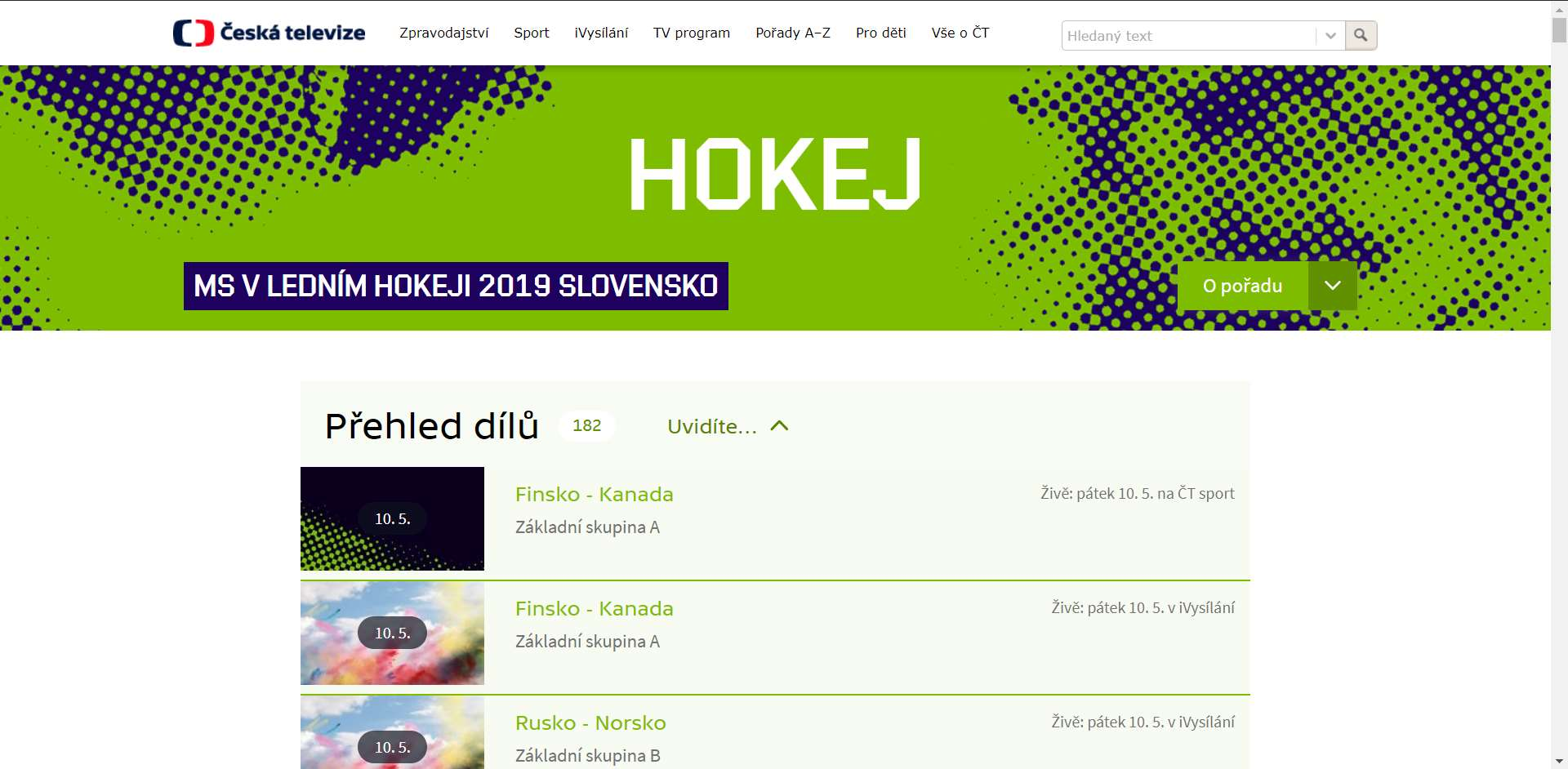a6b69f8274f25 Hokej online: Kde sledovat mistrovství světa v hokeji 2019 – Živě.cz