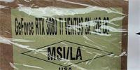 """Do USA míří balíky s grafickými kartami GeForce RTX 3080 Ti od MSI. Prozradila to fotka """"pošťáka"""""""