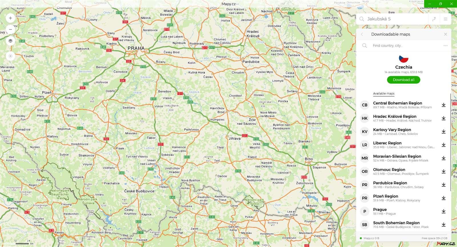 Galerie - Nová aplikace Mapy cz zamířila do Microsoft Store