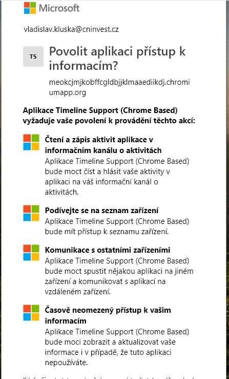 c78db02e850 Už nemusíte používat Edge. Tento doplněk vám synchronizuje Chrome s Windows  Timeline. Zavřít galerii. Požadovaná oprávnění jsou dosti obsáhlá